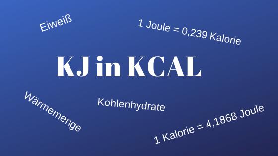 Umrechnung Kilojoule in Kilokalorien